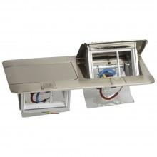 Выдвижной розеточный блок - неукомплектованный - IP 40 - 6 модулей - нержавеющая сталь, Артикул:054022