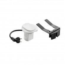 Настольный кабельный органайзер, розетка 2К+З  Белый, артикул:054080