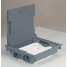 Напольная коробка с глубиной 75-105 мм, неукомплектованная, 18 модулей,антикоррозийное покрытие, серый RAL 7031, артикул:089610