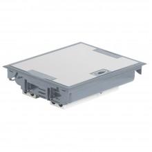 Напольная коробка с глубиной 75-105 мм, неукомплектованная, 24 модуля,антикоррозийное покрытие, серый RAL 7031, артикул:089615