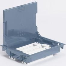 Напольная коробка с глубиной 75-105 мм, неукомплектованная, 24 модуля, под покрытие, серый RAL 7031, артикул:089616