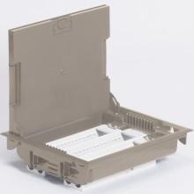Напольная коробка с глубиной 75-105 мм, неукомплектованная, 24 модуля, под покрытие, бежевый RAL 1019, артикул:089617