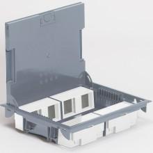 Напольная коробка с глубиной 65 мм, неукомплектованная, 8х2 модуля, антикоррозийное покрытие, артикул:089625