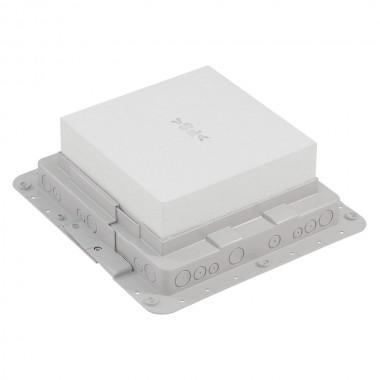 Пластиковая монтажная коробка, для встраивания напольных коробок на 18 модулей, артикул:089631