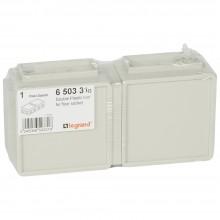 Монтажная коробка для выдвижного розеточного блока - 6 модулей - пластик, Артикул:650331