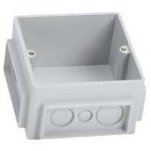Монтажная коробка для выдвижного розеточного блока - 3 модуля - пластик, Артикул:650390